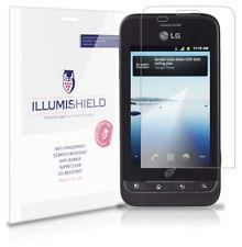 iLLumiShield Phone Screen Protector w Anti-Bubble/Print 3x for LG Optimus Net 10