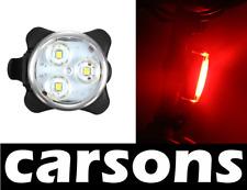 3 LED anteriore e posteriore in lega Coda Luce Bici Ricaricabile USB Luci Set Kit carsons