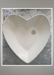 Mrs Hinch Tesco Heart Serving Bowl 24.5cm x 23.5cm Stoneware Home Tableware NEW