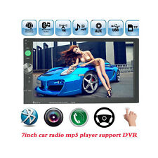 """7"""" 2 Din In-dash HD Bluetooth Car Stereo MP3 Audio Player FM Radio Touch Screen"""