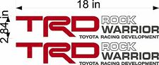 TOYOTA TRD Rock Warrior / PAIR / Vinyl Truck Replacement Graphic Decal Stickers