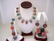 "Brighton ""VENEZIANA"" Necklace-Earring-Bracelet Set (MSR$206) NWT/Pouch"