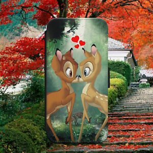BAMBI LOVE IS IN THE AIR FLIP WALLET PHONE CASE COVER FOR IPHONE SAMSUNG HUAWEI