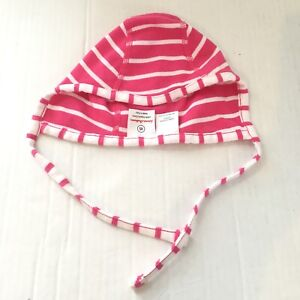 Hanna Andersson Baby Girl XS Pilot Hat Tie Pink Wiggles 100% Organic Cotton