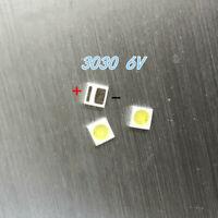 100pcs 3030 6V 200mA SMD Lamp Beads Cold White Light for LED TV Strip Repair