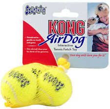 Air Kong Dog Puppy Squeaky Tennis Fetch Ball Toy - Small Balls 3 Pack