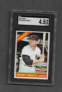 1966 Topps BB #50 Mickey Mantle/Yankees SGC 4.5