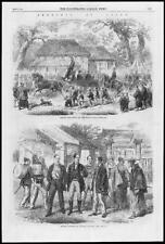 1866 Antiguo Print-Japón Yokohama oficiales japoneses gorogio uniforme (272)