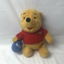 Vintage 1994 Disney Winnie The Pooh With Honey Pot Plush Mattel
