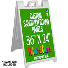 36 x 24 Plastic Sandwich Board Panels ONLY-NO FRAME