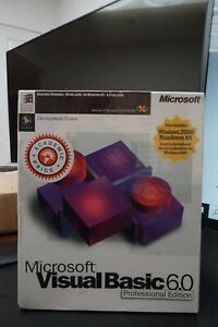 NEW SEALED Microsoft Visual Basic Professional 6.0 6 for Windows ME 7 8 PRO 10