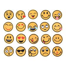 20 x Emoji Stickerei Eisen auf Applikation Patch Sticker sewing Craft Repair EW