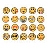 20X Emoji Emotion Embroidery Iron On Applique Patch Sticker Sewing Craft RepairD