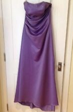 LONG LILAC DRESS 10 BRIDESMAID ALFRED ANGELO Party Prom WEDDING BALL GOWN VGC