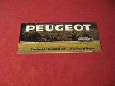 1969 Peugeot Sales Brochure Booklet Catalog Old Original Book