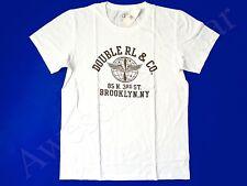 New Ralph Lauren RRL 100% Cotton White Brooklyn NY Logo T Shirt Slim size XXL