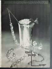 1960 LISNER mint julep cup necklace bracelet earrings jewelry ad