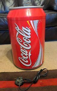 Coca Cola Can Coke Portable Mini Fridge Cooler Working condition.