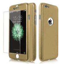Funda 360° hibrida para Iphone 6 Plus Oro + Cristal Templado Antigolpes Carcasa