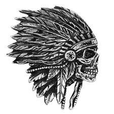 Pin's Biker épinglette Indian Apache Skull tête de mort Chef indien sacoche moto