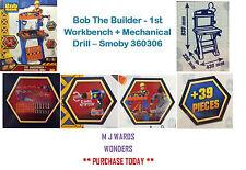 Bob The Builder - 1st Workbench + Mechanical Drill – DIY - Smoby 360306