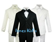 Toddler Boys' 5 Piece Classic Fit Formal Tuxedo Bow Tie Set Choice of Colors
