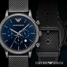 Emporio Armani Men's AR1979 'Dress' Chronograph Black Stainless Steel Watch