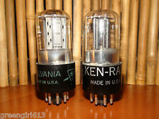 2 Vintage 6SN7 GT Stereo Tubes  Results = 2800/2610 2680/2500 #64771