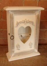 Wall Hanging Key Cupboard - White Shabby Chic / French Country - Solid Wood