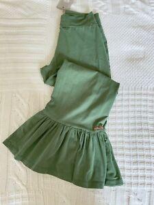 Matilda Jane Brilliant Daydream Boldly Go Green Big Ruffles Pants Size Small NWT
