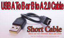 5 PIN MINI B TO A USB 2.0 CABLE Short Cable = no clutter