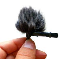 Fur Windscreen Windshield Wind Muff for Lapel Lavalier Microphone Mic