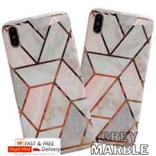 Marble Case iPhone 11 Max XR 7 8 6S SE Geometric Shockproof Silicone Phone Cover