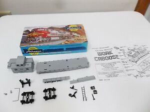 Athearn MW # 1281 Maintenance Of Way Work Caboose Blue Box Kit Unbuilt