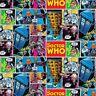 Fat Quarter Doctor Who Comic Streifen 100% Baumwolle Quilt Stoff
