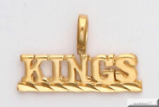 SACRAMENTO KINGS Necklace Pendant Charm 24K Gold Plated Team Name Fan Jewelry
