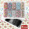 Flower Holographic Mix Style  Nail Sticker Transfer Decals Nail Decoration