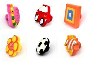 Knobs / Handles Rubber Kids Children Wardrobe Drawer Cabinet Cupboard