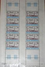 TAAF FSAT 1981 Maury Air 69 166 C69 SHEET Schiff Steam Ship Dampfer Antares MNH