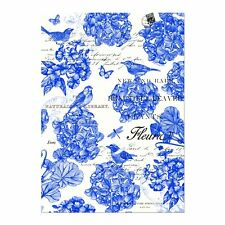 "Michel Design Works, ""Indigo Cotton"", Pure cotton printed tea towel."