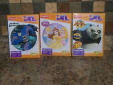 Lot of 3 Fisher Price iXL games New Sealed Batman Kung Fu Panda Disney Princess