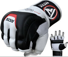 RDX MMA Gloves for Martial Arts Training & Sparring | Cowhide Leather Mitts for