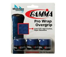 NEW Gamma Pro Wrap Overgrip - 3 Pack - Tennis over grip Blue