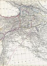 Landkarte ARMENIEN🌄🇦🇲🏔 165 Jahre alt - Armenia საქართველო Kaukasus IRAK 1854