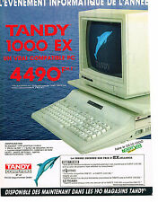 PUBLICITE advertising  1989   MAGASIN TANDY  COMPUTERS ordinateur 1000 EX