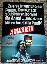 ABWÄRTS * GÖTZ GEORGE, WOLFGANG KIELING - A1-Filmposter-German 1-Sheet 1984 KULT