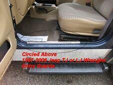 97-06 TJ LJ Wrangler Jeep Diamond Plate entry guards NICE Free Shipping Too! :)