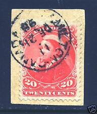 CANADA STAMP #46 --- 20c QUEEN VICTORIA -  USED ON PIECE - CDS