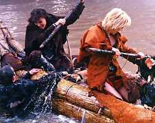 Xena Photo Club May 2001 01 photograph Xena and Gabrielle battle in a canoe