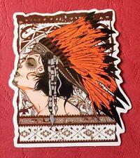 "Sticker Aufkleber ""Cherokee Girl"" Glanz-Optik Stickerbomb Skateboard Laptop"